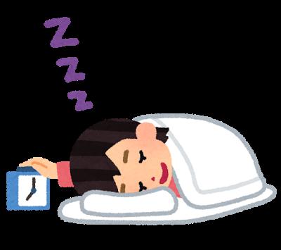 いつまでも寝ている女性