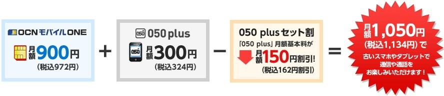 OCNモバイルONE050plus